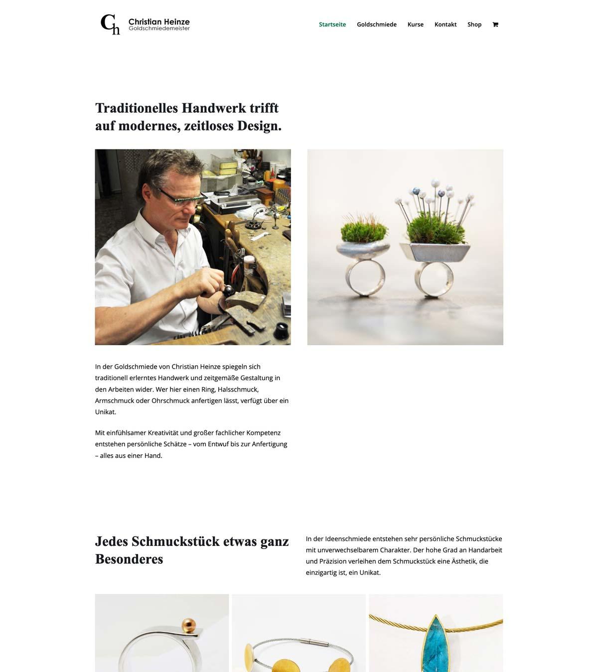 Beispiel WordPress Webseite mit WooCommerce