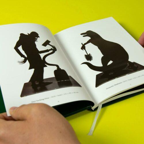 »Das Jagdschloss«, Angela Schilling, Doppelseite Katalog