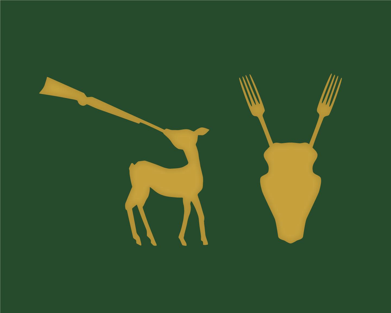 Das Jagdschloss Illustrationen Reh und Geweih