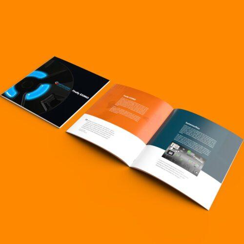 Broschüre Printedesign für die sensustec GmbH