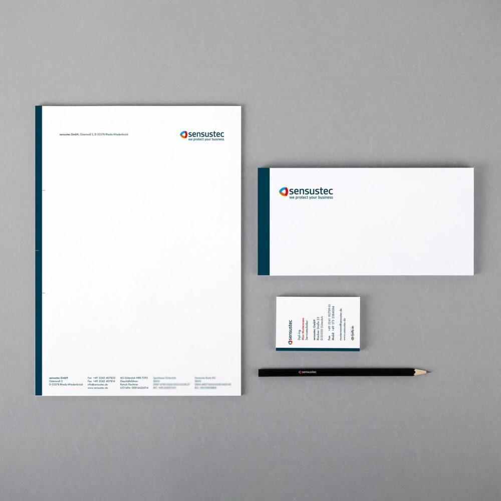 Geschäftspapierausstattung sensustec GmbH